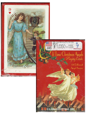 [ Old Time Chiristmas Angels Playing Cards ]