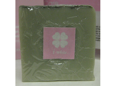 i-white [ Green Clay Detox Soap -MINT-] Additive Free Cosmetics