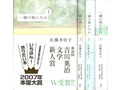 Takako Sato [ Isshun no kaze ni nare vol.1-3 set ] Novel