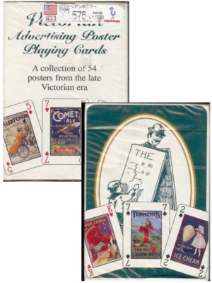[ Victorian Advertising Poster Playing Cards ]